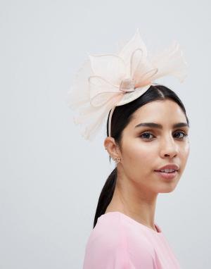 Шляпа с вуалеткой и сеточкой Elegance. Цвет: кремовый
