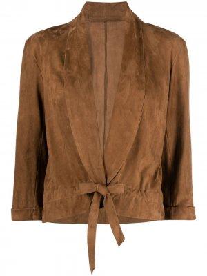 Укороченная куртка Salvatore Santoro. Цвет: коричневый