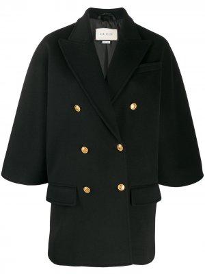 Пиджак свободного кроя Gucci. Цвет: черный