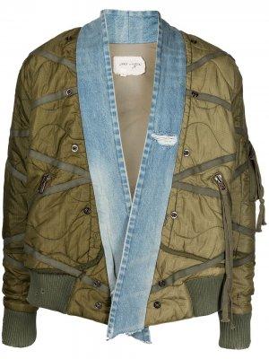 Джинсовая куртка Utility Flight Greg Lauren. Цвет: зеленый