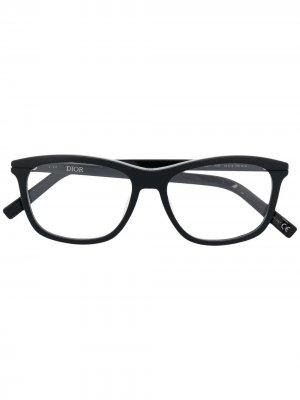 Очки в квадратной оправе Dior Eyewear. Цвет: черный