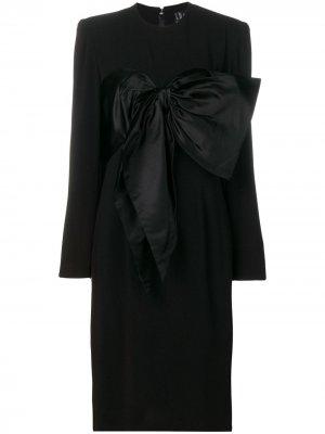 Платье с бантом Jean Louis Scherrer Pre-Owned. Цвет: черный