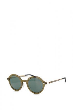 Очки солнцезащитные Byblos. Цвет: коричневый, зеленый