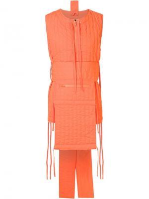 Дутый жилет с завязками Craig Green. Цвет: жёлтый и оранжевый