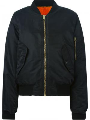 Куртка-бомбер Liska. Цвет: чёрный