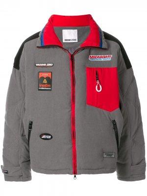 Куртка оверсайз на молнии Ground Zero. Цвет: серый