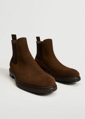 Ботинки челси из замши - Chel Mango. Цвет: песочный