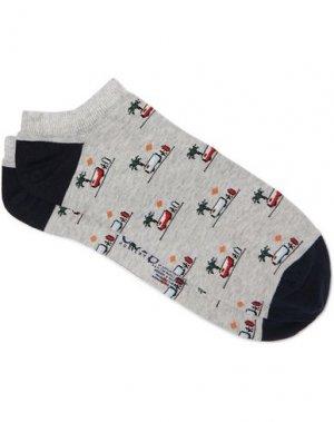 Короткие носки CORGI. Цвет: светло-серый