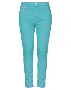 Джинсовые брюки DONNAVVENTURA by ALVIERO MARTINI 1a CLASSE. Цвет: бирюзовый