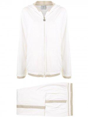 Спортивный костюм 2006-го года с контрастной окантовкой Chanel Pre-Owned. Цвет: белый