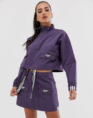 Укороченная фиолетовая куртка с карманами RYV-Фиолетовый adidas Originals