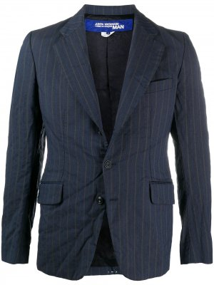Однобортный пиджак в полоску Junya Watanabe MAN. Цвет: синий
