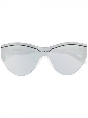 Ski Cat sunglasses Balenciaga Eyewear. Цвет: белый