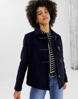 Короткое пальто с добавлением шерсти -Темно-синий Gloverall