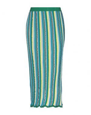 Юбка длиной 3/4 GOTHA. Цвет: зеленый
