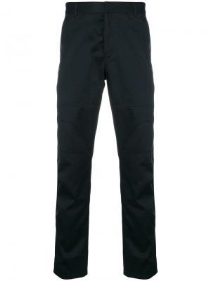 Классические панельные брюки-чинос Lanvin. Цвет: черный
