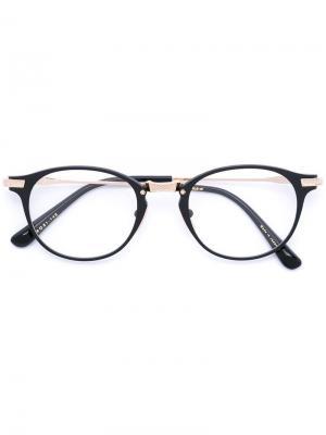 Круглая оправа Dita Eyewear. Цвет: чёрный