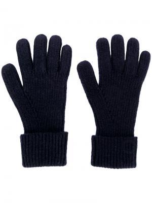 Ribbed knitted gloves N.Peal. Цвет: синий