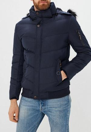 Куртка утепленная Just Key. Цвет: синий