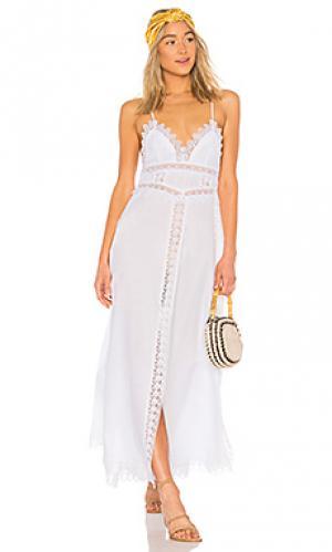 Макси платье imagen Charo Ruiz Ibiza. Цвет: белый