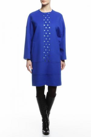 Пальто HERESIS. Цвет: синий, квадраты