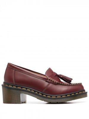 Лоферы на блочном каблуке из коллаборации с Dr Martens Comme Des Garçons. Цвет: красный