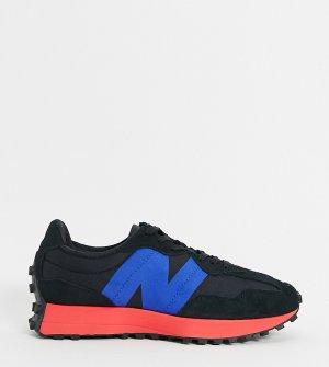 Черные с красным кроссовки 327-Черный цвет New Balance