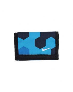 Бумажник NIKE. Цвет: синий