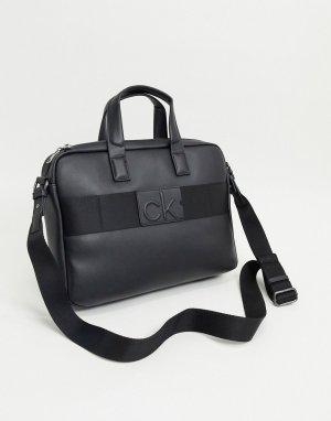 Черная сумка для ноутбука -Черный Calvin Klein