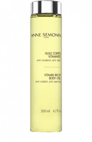 Масло для тела, обогащенное витаминами Anne Semonin. Цвет: бесцветный