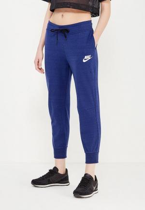 Брюки спортивные Nike W NSW AV15 PANT KNT. Цвет: синий