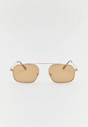 Очки солнцезащитные Pull&Bear. Цвет: золотой
