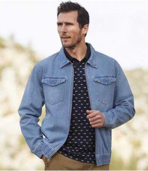 Джинсовая Куртка Atlas For Men. Цвет: синий