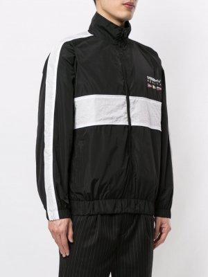 Спортивная куртка с вышитым логотипом MISBHV. Цвет: черный
