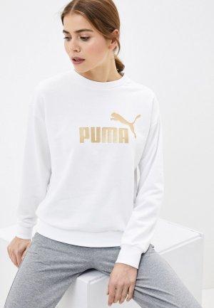 Свитшот PUMA ESS+ Metallic Crew Sweat TR. Цвет: белый