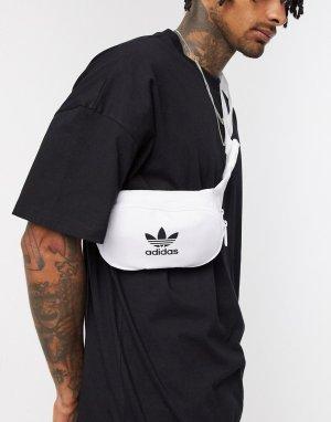 Белая сумка-кошелек на пояс с логотипом-трилистником -Белый adidas Originals