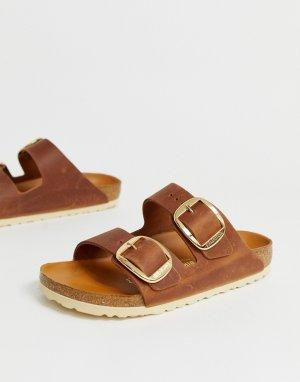 Светло-коричневые сандалии с большими пряжками Arizona-Светло-коричневый Birkenstock