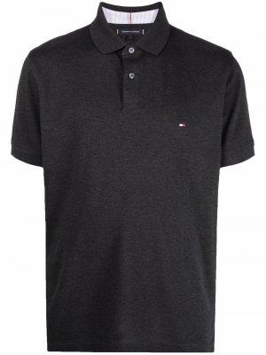Рубашка поло с вышитым логотипом Tommy Hilfiger. Цвет: серый