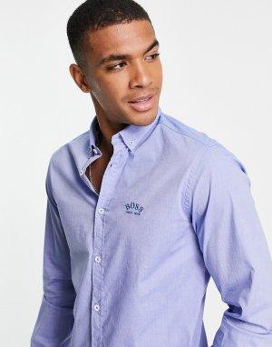 Рубашка Athleisure Biadia-Голубой BOSS
