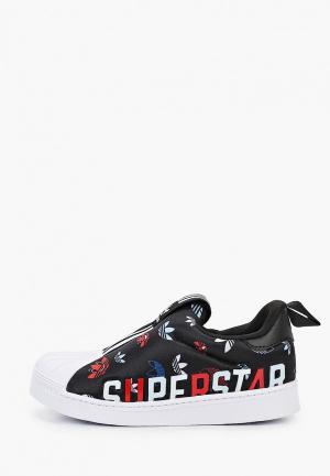 Слипоны adidas Originals SUPERSTAR 360 X I. Цвет: черный