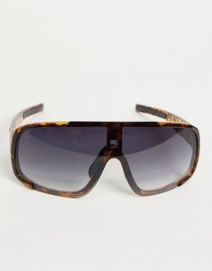 Черные солнцезащитные очки унисекс с козырьком и тонированными стеклами -Черный Jeepers Peepers