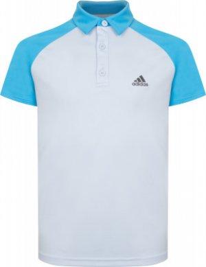 Поло для мальчиков adidas Club, размер 128. Цвет: голубой