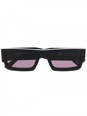 Солнцезащитные очки Wings в прямоугольной оправе Marcelo Burlon County of Milan. Цвет: черный