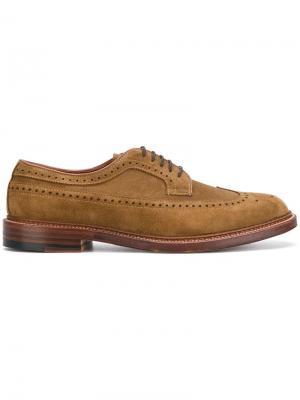 Classic lace-up shoes Alden. Цвет: коричневый