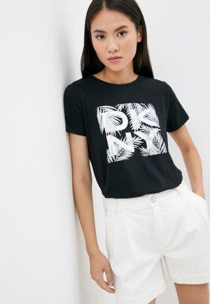 Футболка DKNY SPORT. Цвет: черный
