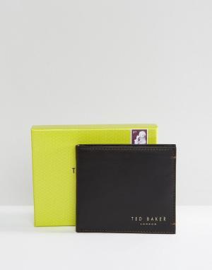 Кожаный складной бумажник с отделением для монет Harvys-Коричневый Ted Baker