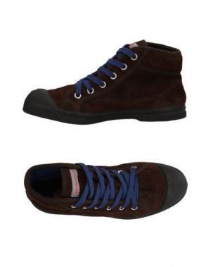 Высокие кеды и кроссовки BENSIMON. Цвет: темно-коричневый