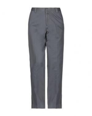 Повседневные брюки GAP. Цвет: свинцово-серый