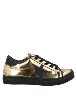 Кеды и кроссовки EUREKA. Цвет: золотистый