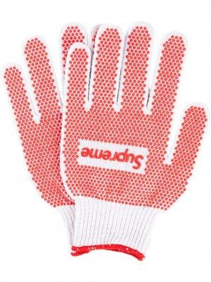 Перчатки Grip Work Supreme. Цвет: белый